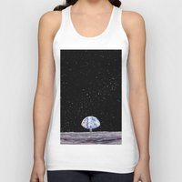 neil gaiman Tank Tops featuring Neil Armstrong by Enrico Barin Guarise