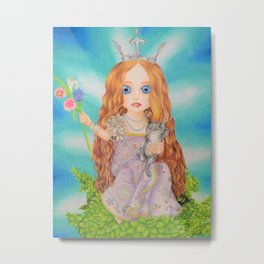 Ava in the Trees Metal Print