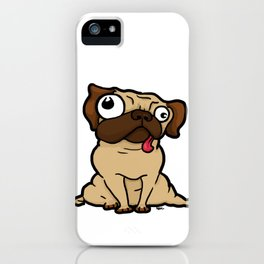 Dopey Pug iPhone Case