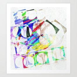 Blocks Art Print