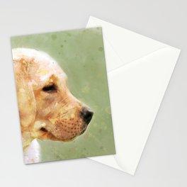 Yellow Labrador retriever puppy watercolor Stationery Cards