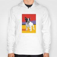 terrier Hoodies featuring Boston terrier by Matt Mawson