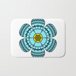 Hippie Geometric Flower Bath Mat