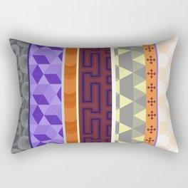 Multi Coloured Geometric Pattern Rectangular Pillow