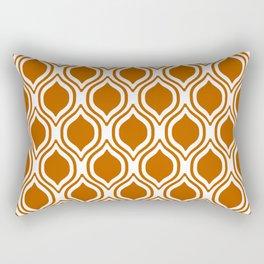 Texas longhorns orange and white university college texan football ogee Rectangular Pillow