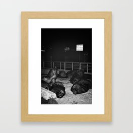 As We Lay Framed Art Print