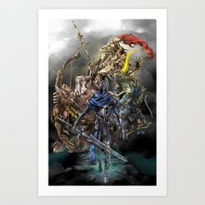Dark Souls Knights of Gwyn Art Print