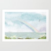 The Sky with Lingering Scent of Rain Art Print