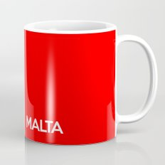 Malta country flag name text Mug