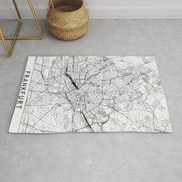 Frankfurt White Map Rug