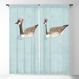 Wintry Goose  Blackout Curtain