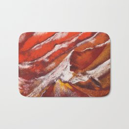 Antilope Canyon abstract painting by pastel Bath Mat
