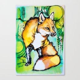 Inky FOX Canvas Print