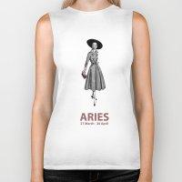 aries Biker Tanks featuring Aries by Cansu Girgin