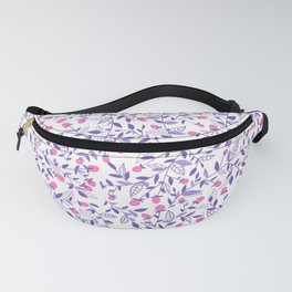 Floral doodles pink and violet Fanny Pack