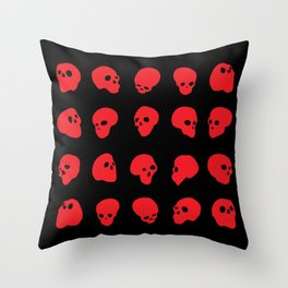 redhead - red on black Throw Pillow