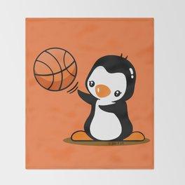 Basketball Penguin (2) Throw Blanket