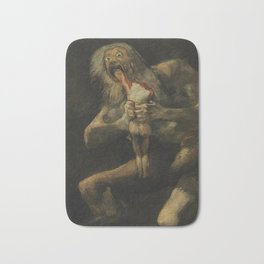 Saturn Devouring His Son - Goya Bath Mat