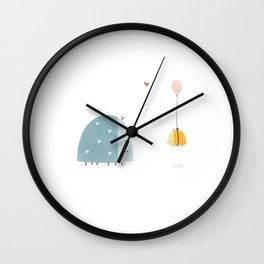 Sweet illustrated animal artwork   Ladybug Illustration  Wall Clock