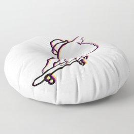 skater illustration, skateboard one liner outline drawing Floor Pillow