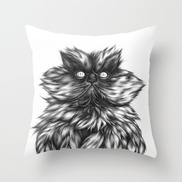 Colonel Meow Throw Pillow