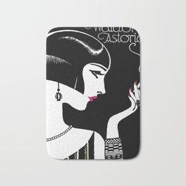 1925 Waldorf Astoria Jazz Age New York City Flapper Vintage Poster Bath Mat