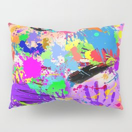 Psychodelic Hipppie Abstract Painting Pillow Sham