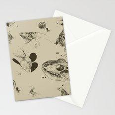 Lizards pattern (sepia) Stationery Cards