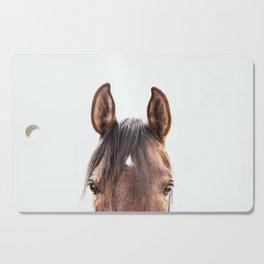 peekaboo horse, bw horse print, horse photo, equestrian, equestrian photo, equestrian decor Cutting Board