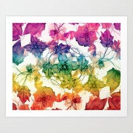 Multicolored Floral Swirls Decorative Design Art Print