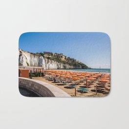 Beach of Vieste, Puglia, Italy Bath Mat