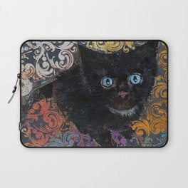 Little Black Kitten Laptop Sleeve