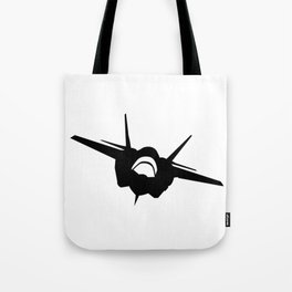 Fighter Jet Silhouette (Front-View) Tote Bag