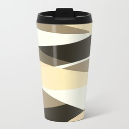 Beige Brown and Taupe Abstract Travel Mug
