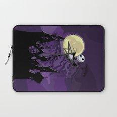 Halloween Purple Sky with jack skellington iPhone 4 4s 5 5c, ipod, ipad, pillow case tshirt and mugs Laptop Sleeve