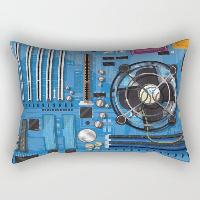 Computer Motherboard Rectangular Pillow