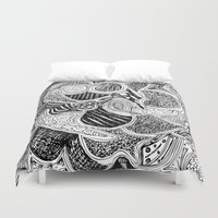 doodle Duvet Covers featuring Doodle by Anchobee
