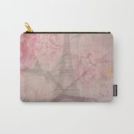 Parisian Romantic Collage Carry-All Pouch