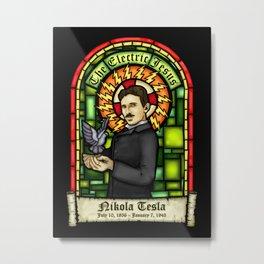 Tesla: The Electric Jesus Metal Print