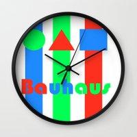 bauhaus Wall Clocks featuring Bauhaus by Retale
