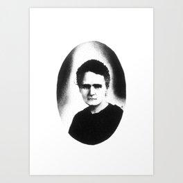 Madame Curie Art Print