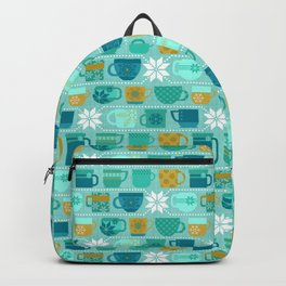 Snow Day Mugs - Teal Backpack