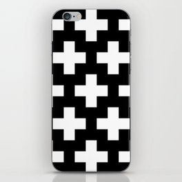 black-and-white pattern Yakshi iPhone Skin