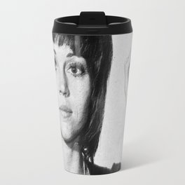 Jane Fonda Mug Shot Vertical Travel Mug