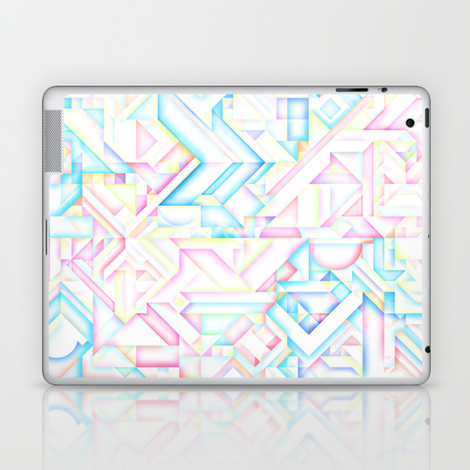 90s Inspired Print Geometric Pastel Bright Shapes Pattern Graphic Design Laptop Ipad Skin By Aej Design