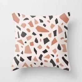 Earth Terrazzo Throw Pillow