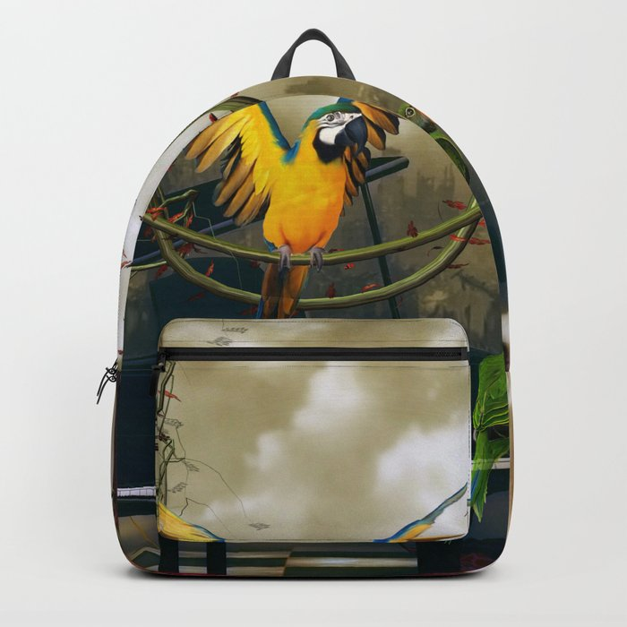Funny parrots Backpack