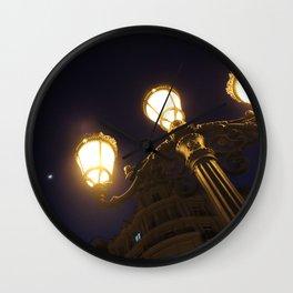 Valencia by night Wall Clock