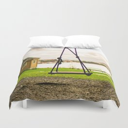 Lone Swing Photography Duvet Cover