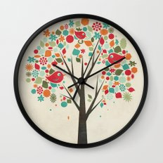 Home Birds Wall Clock